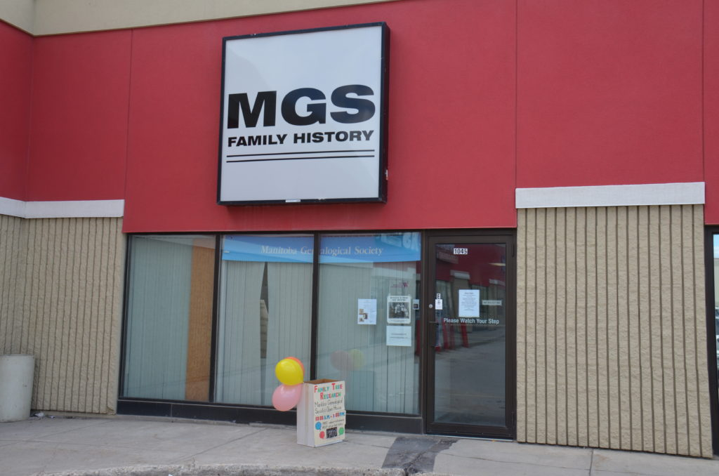 Manitoba Genealogical Society Inc. - Unit E – 1045 St. James Street