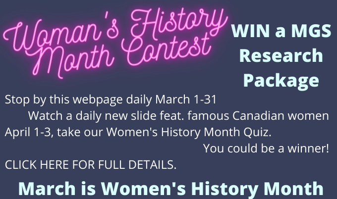 2021 Women's History Month Contest