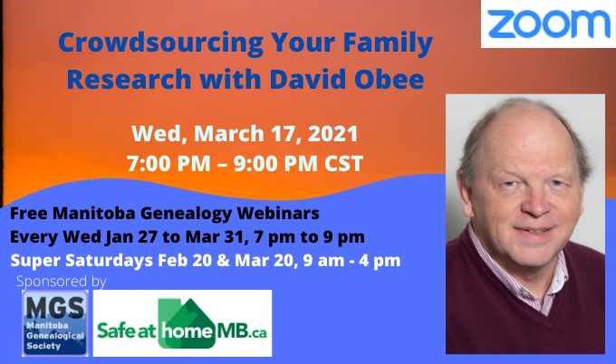 SLIDER Mar 17 Crowdsourcing Your Family Research